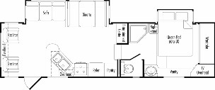 Floorplan Model 2960RL JAZZ Fifth Wheel