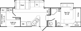 Floorplan Model 3180BH JAZZ Fifth Wheel