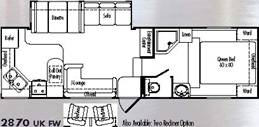 Floorplan Model 2870UK THOR california Fifth Wheels