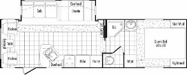 Floorplan Model 295RLS THOR california Fifth Wheels