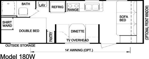 Model 180 Weekender floorplan